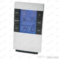 Новый цифровой синий светодиод подсветки Измеритель температуры и влажности гигрометр термометр часы