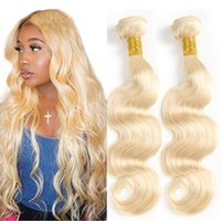 Blond body wave virgin hair 10- 24inch body wave human hair e...