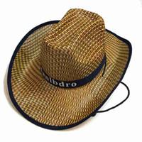 2019 큰 유황과 함께 새로운 패션 캐주얼 여름 밀짚 모자 서양 카우보이 모자 남자 비치 캡 대나무 모자 태양 모자