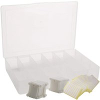 Embroidery Floss Organizer Box 17 Compartments with 100 Hard...