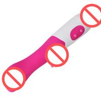 Vibratori del coniglio del punto di G del doppio del vibratore del dildo di Zerosky G per i giocattoli di vibrazione del sesso delle donne Buona qualità