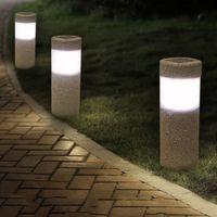모래 발파 3W 태양 광 잔디 등 실외 방수 LED 화이트 라이트 정원 풍경 마당 잔디 경로 램프