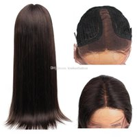 Kiss Hair Middle Part Pre- Plucked T Lace Front Wig Straight ...