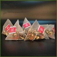 500PCS / الكثير تصفية الشاي أكياس النايلون مع تسمية إفراغ المتاح أكياس الشاي الشاي المساعد على التحلل مصفاة حقيبة واضح حقيبة تخزين 5.8 * 7CM FFA1445N