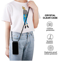 Airbag Phone Case With Lanyard 19 Colors Neck Strap Handbag ...