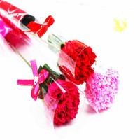 Artificial Rose Carnation Flower Single Soap Flowers for Val...