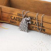 Dire Wolf Logo collier pendentif loup-garou hiver vient en alliage de zinc famille étiquette insigne de la maison