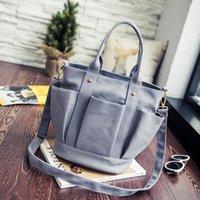 Дизайнеры Multi Pocket Bag Bag Мать Стиль Повседневная Tote PU Сумка Подгузник SAC Женщина Холст Новые Известные сумки Coofit Кожаная Функция