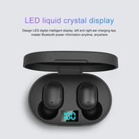E6s TWS Headphones Com display LED da bateria Bluetooth 5.0 fone de ouvido estéreo Mini sem fio Earbuds Sports Gaming Headset Com cobrando A6S caixa