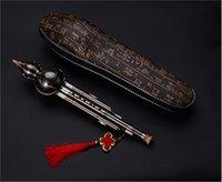 L'instrument de musique nationale chinoise Hulusi joue le Hulusi
