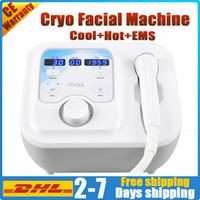 Potrable serin yüz makine elektroporasyon cihazı cryo soğutucu mezoterapi cilt gençleştirme yüz germe yaşlanma karşıtı cilt bakım salonu ekipmanları