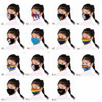 أقنعة واقية من الشمس LGBT غاي الغبار يمكن تكييفها مع أقنعة PM2.5 مطبوعة للأطفال EEA1724 القطن الكرتون
