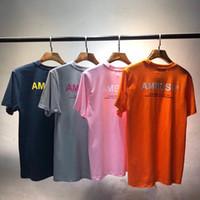 Yansıtıcı Pusu T-Shirt Yüksekliği Kaliteli Erkek Kadın Pamuk Pusu En Tees Yeni Stil Casual O-Boyun Streetwear Pusu T Shirt Y19072201