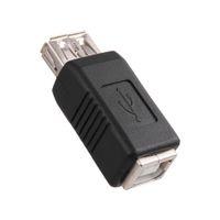 USB 2.0 tipo A da maschio / femmina a tipo B Maschio / femmina Adattatore scanner Connettore convertitore Connettore Elettronica adattatore nichelato