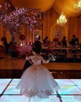 긴 소매 볼 가운 꽃 소녀 드레스 특종 공주 여자 성찬식 드레스를 페르시 선발 대회 파티 드레스