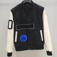 Fashion- 유럽 야구 코트 교복 패션 높은 품질 싱글 브레스트 따뜻한 자켓 커플 여성 남성 디자이너 코트 HFKYJK012