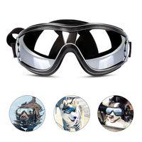 الكلب نظارات نظارات الكلب حزام قابل للتعديل للتزحلق على الجليد سياحة ومكافحة الضباب الثلج نظارات نظارات الحيوانات الأليفة لمتوسطة إلى كبيرة