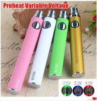 Evod Pré-aqueça a bateria da tensão variável 650mAh 900mAh 1100mAh Twist Ego Eco Ecig Baterias para MT3 CE4 CE5 Atomizer