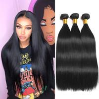 Mink brasileña recta ofertas de cabello humano 3 Paquetes Paquetes onda del cuerpo crudo indio de la Virgen extensiones del cabello humano peruano del pelo de la armadura malasia