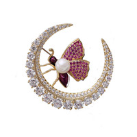 Luxe européen haut de gamme perle zircon abeille accessoires féminins atmosphère de luxe broche mignonne tempérament sauvage broche bijoux