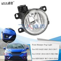 ZUK nova marca de alta qualidade Esquerda Direita Nevoeiro luz frontal de nevoeiro Luz Bumper Lamp Para HONDA FIT / JAZZ GK5 CIVIC FB2 FB6 ODYSSEY Crider