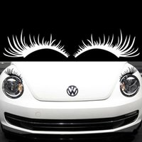 Fashion car headlights sexy eyelashes headlights stickers ey...