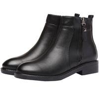 2019 Hot Sale Senhoras das mulheres negras Sexy dedos apontados Synthetic ankle boots de couro FS-B779 US UK EUR Tamanho personalizado por Favoshoes