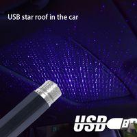 Carro laser starry céu luzes carro estrelado USB atmosfera luzes carro estrelado céu decoração de teto usb atmosfera luzes A02