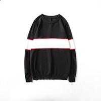 Мужские стилисты свитера толстовки Мужская повседневная круглые шеи с длинным рукавом свитера мужская высокая качественная толстовка черный размер M-2XL