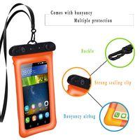 الهاتف الجديد وسادة هوائية العائم موبايل غطاء مقاوم للماء شفافة تعمل باللمس سباحة للماء الغلاف موبايل حقيبة الهاتف