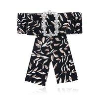 La moda de Nueva 2020 flor impresa pajaritas de la solapa de la broche Broches broches diseñador de las mujeres Pin joyería de la boda decoración del partido
