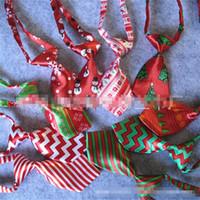 Crianças Impressão Bow Tie Natal Criança Estilo bowknot Laços Multi Cores Padrão Stripe gravatas Por Favor de partido Nova Chegada 1 8ys L1
