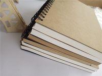 Papier Kraft Bloc-notes Fournitures de bureau de haute qualité Creative Sketchbook Cahiers de Graffiti Bloc-notes vierge Vente chaude