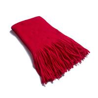 Новая зимняя с длинной бахромой шарфы сплошного цвета имитации шерсть перекос ж мужской монохромный толстым шарф платок оптовым