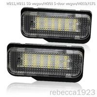 Автомобильные светодиодные лампы номерного знака для W211, W211 5D wagon/W203 5-дверный вагон/W219, R171 цена по прейскуранту завода-изготовителя Led number plate light 13.5 V 6000K