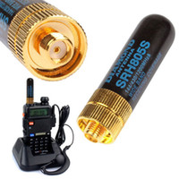 Long Range Portable Signal Boost Effektive Metall Mini UHF VHF Dual Band Weibliche Professionelle Antenne Interphone Einsatz