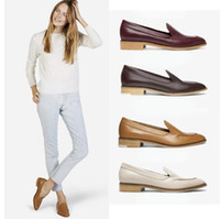 Designer Frauen Jahrgang Loafers Spitzschuh Dame faul Schuhe Slip-On Shallow Mund klobige Ferse im Freien Art und Weise Frauen-Partei-Schuhe