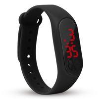 Moda Hombres Mujeres Casual Deportes Pulsera Relojes LED Electrónico Digital Color Color Reloj de pulsera de silicona para niños niños