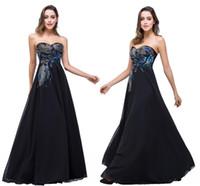 I lager Designer Black Evening Dresses Sweetheart Peacock Broderi Formell Prom Party Gowns Vestidos de Festa CPS342