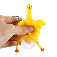 الشحن مجانا الإبداعية سلسلة المفاتيح تنفيس الضغط لعبة الدجاجة تضع بيضة الدجاج محاكاة ساخرة لعبة حزب الضغط خدعة عيد الميلاد الأطفال هدية عيد ميلاد