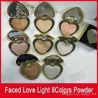 تواجه عينيه لوحة شكل قلب بودرة 8 ألوان هيغليغتر مسحوق لوحة الحب ضوء تمييز dhl حر