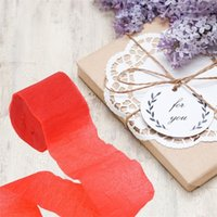 Rotolo Streamer di carta crespa 9m Nastri multicolori Bomboniera Decorazioni per feste di compleanno Giardino Popolare 0 4fb UU