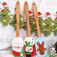Weihnachten Serie Schaber Kuchen Backenwerkzeuge Schaber Farbige Zeichnung Multi Stile Holzgriff Silikon Butter Rakel Kreative 9yb L1