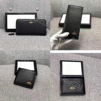 Männer Leder kurze Brieftaschen Mode Männer Geldbörsen Biene Lange Schwarz Geldbörse Biene Kurze Geldbörse Kreditkarte Hohe Qualität Karteninhaber