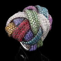 GODKI Famous Monaco Design  Big Winding Cross Geometry Cubic Ziron CZ Ring For Women Wedding Dubai Bridal Finger Ring 2019