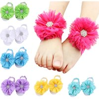 Hot Baby Sandalen Blume Strass Schuhe Abdeckung Barfuß Krawatten Infant Mädchen Kinder Erste Wanderer Schuhe Fotografie Requisiten