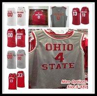 Personalizzato 2020 Ohio State Buckeyes universitario Maglia Basketball DJ Carton Kaleb Wesson Duane Washington Jr. CJ Walker Andre Wesson Russell Craft