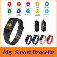 Presión inteligente reloj M5 SmartBand Deporte rastreador de ejercicios inteligente pulsera de sangre real monitor de ritmo cardíaco Bluetooth impermeable
