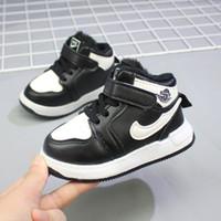 الولايات المتحدة الأمريكية إيطاليا أحذية أطفال تصميم الشتاء الدافئ مريحة الأطفال أحذية رياضية بنين بنات طفل حذاء أحمر + أبيض + وردي تنفس الطفل حجم 21-25