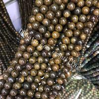 10 fili genuini naturali in pietra di cristallo di bronzite perline sparse 4mm 6mm 8mm 10mm 12mm rotonda liscia gemma distanziatore perline risultati accessori